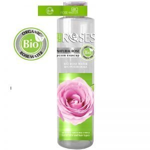 Agua Natural Bio con aceite de rosa Búlgara Damascena, 200 ml